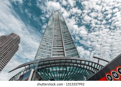 Gold Coast, Australia - January 6, 2019: looking up at Q1 building in Surfers Paradise