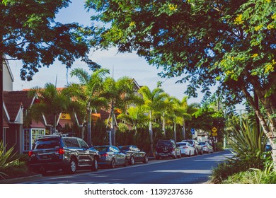 GOLD COAST, AUSTRALIA - January 7th, 2015: detail of residential streets in Surfers Paradise near Tedder Avenue
