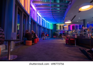 Gold Coast, Australia - July 11, 2017: interior of the Skypoint observation deck in the Q1 building in Surfers Paradise on the Gold Coast.