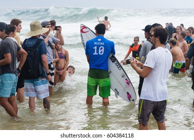 Gold Coast, Australia - March 19th, 2017 : Gabriel Medina during Quiksilver Pro Surf semifinals.