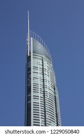GOLD COAST, AUSTRALIA - MARCH 26, 2008: Q1 Tower in Gold Coast, Australia. The building finished in 2005 is 323m tall and is world's 3rd tallest residential tower (2011).