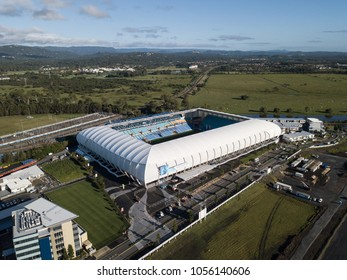 GOLD COAST, AUSTRALIA - MARCH 28 2018: Cbus Super Stadium is rugby venue for XXI Commonwealth Games on the Gold Coast suburb of Robina, Queensland