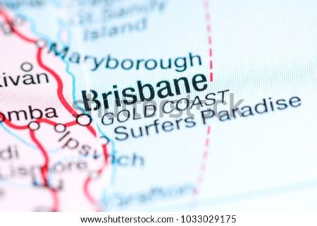 Australia Map Gold Coast.Gold Coast Australia On Map Stock Photo Edit Now 1033029175