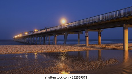 Gold Coast Australia - The Southport Spit - Sand Pumping Jetty at Sunset