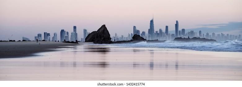 Gold Coast beaches, Queensland, Australia.