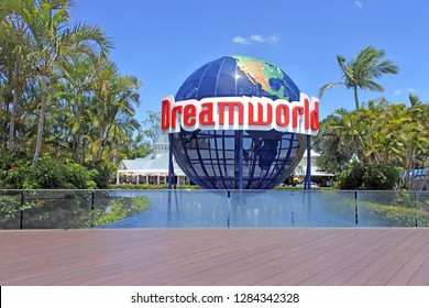 GOLD COAST - JAN 11 2019:Dreamworld theme park and zoo situated on the Gold Coast in Queensland. It's Australia's largest theme park with over 40 rides and attractions, including five roller coasters.