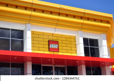 GOLD COAST - JAN 11 2019:Lego store in Dreamworld in Gold Coast Queensland Australia.LEGO group is owned and managed by the founderÕs grandson, Kjeld Kirk Kristiansen Ð with his children.