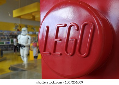 GOLD COAST - JAN 29 2019: Lego shop in Dreamworld. During the Christmas season almost 28 LEGO sets are sold each second.