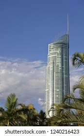GOLD COAST - NOV 25 2018:Q1 skyscraper in Surfers Paradise, Gold Coast Queensland, Australia. It's the tallest building in Australia and the Southern Hemisphere.