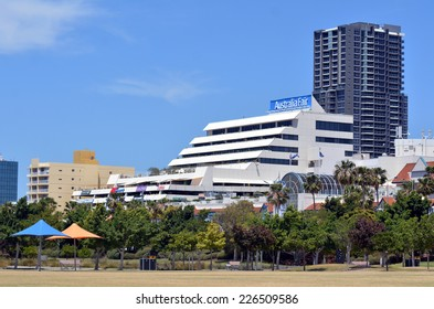 GOLD COAST- OCT 23 2014:Australia Fair Shopping Centre.It's a dual-level popular regional shopping centre covering 59,540 square metres (640,900sqft) located in Southport, Gold Coast, Queensland.
