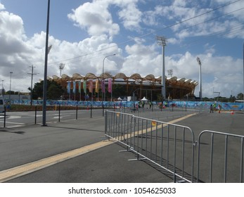 Gold Coast, QLD, Australia-03 21 2018: The main stadium for the 2018 commonwealth games