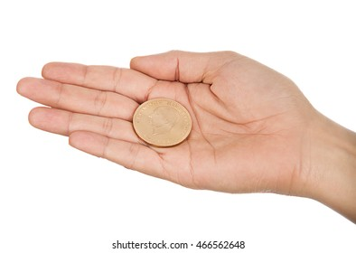Gold Coin in Hand