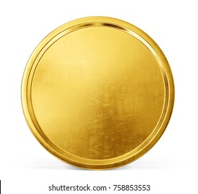 gold coin isolated on white background. 3d illustration