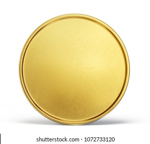 gold coin sign isolated on a white backgrond. 3d illustration