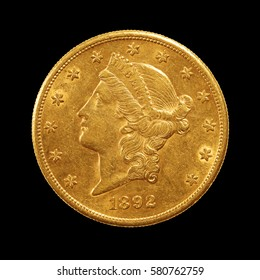gold coin, twenty dollars, liberty head or double eagle