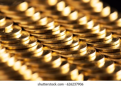 gold coins background.