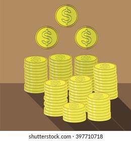 Gold Coins Icon. Cash Money