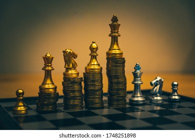 Gold coins stacks is representing riches and wealth management. Coin stack growing and find out the way to get a return on investment. Finance and money exchange investment as concept.