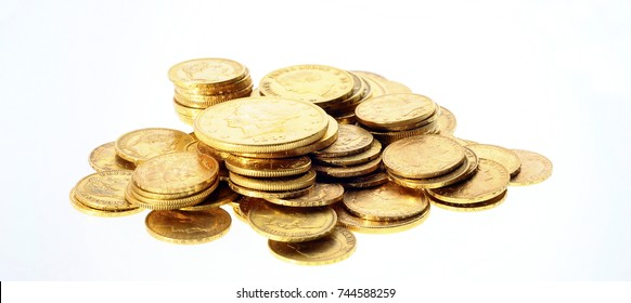 Gold coins : stock of french and american golden coins