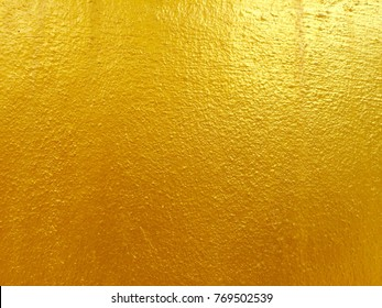 Gold color cement texture and background