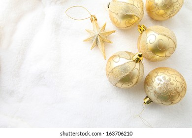 Gold color Christmas Balls