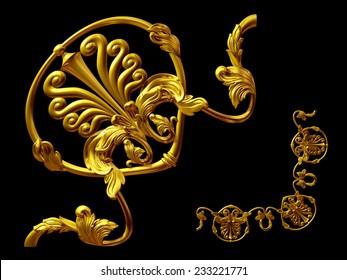 gold colored, ornamental Segment