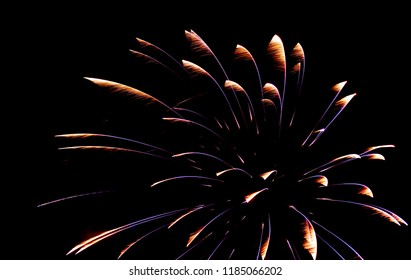 Gold Colorful Fireworks Display