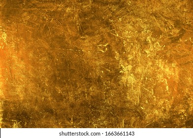 Gold concrete texture close-up. Background for text or design