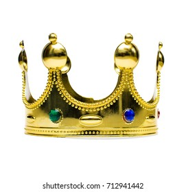 Gold crown isolated.