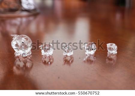 Gold Crystal Elephant Figurines Stock Photo Edit Now 550670752