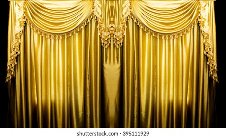 Gold Curtain Images Stock Photos Amp Vectors Shutterstock