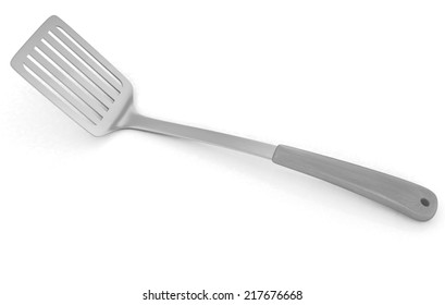 gold cutlery on white background
