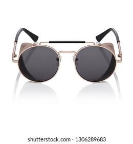 Gold Deep Blinder Adult Steampunk Glasses 1