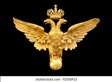 gold double eagle isolated on a black background