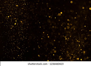 Gold dust glitter sparkle abstract horizontall bokeh background