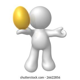 Gold easter egg icon symbol