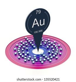 Astatine element periodic table electron configuration stock gold element from periodic table electron configuration urtaz Image collections
