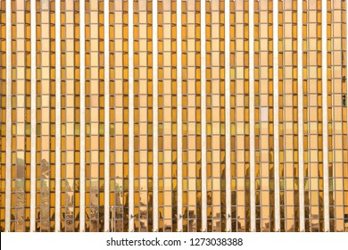 Gold facade from this financial offices building in Dubai