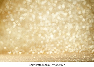Gold Festive Christmas background with glitters