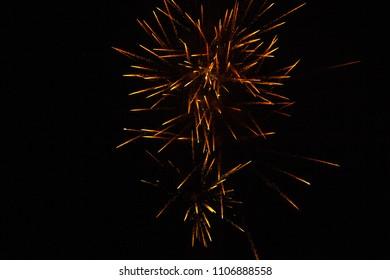 Gold Fireworks Light