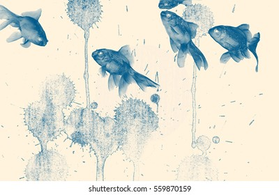 Fish Painting Images, Stock Photos & Vectors | Shutterstock