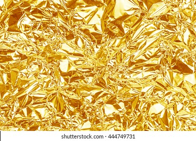 Gold foil texture for background. - Shutterstock ID 444749731
