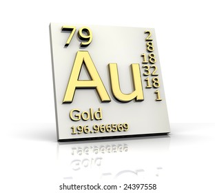 Au gold images stock photos vectors shutterstock gold form periodic table of elements urtaz Gallery