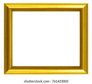 Gold frame Elegant vintage Isolated on white background.