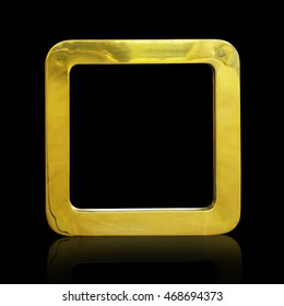 Gold frame isolate on black background. This has clipping path.