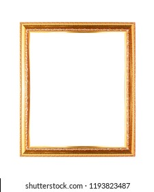 Gold frame isolated white background. (Gold Picture Frame)