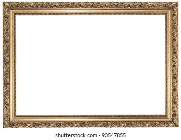 Gold frame on white background See my portfolio for more
