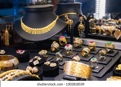 Gold and gem jewelry store.Thai jewelry.