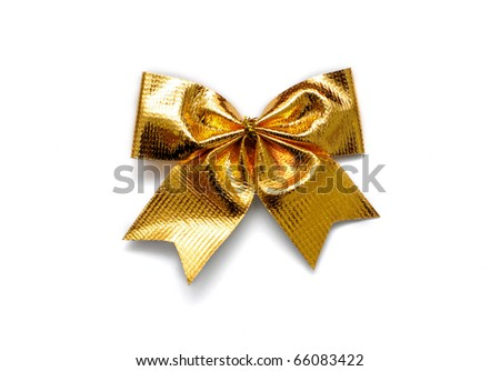 gold gift bow isolated on white stock photo edit now 66083422