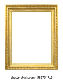 Gold gilded wooden frame for paintings, photographs, mirrors or picture